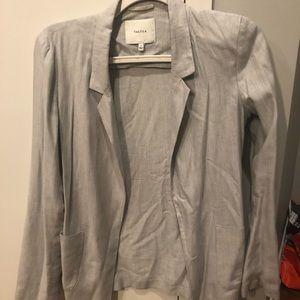 Talula Aritzia Light Gray Grey Blazer
